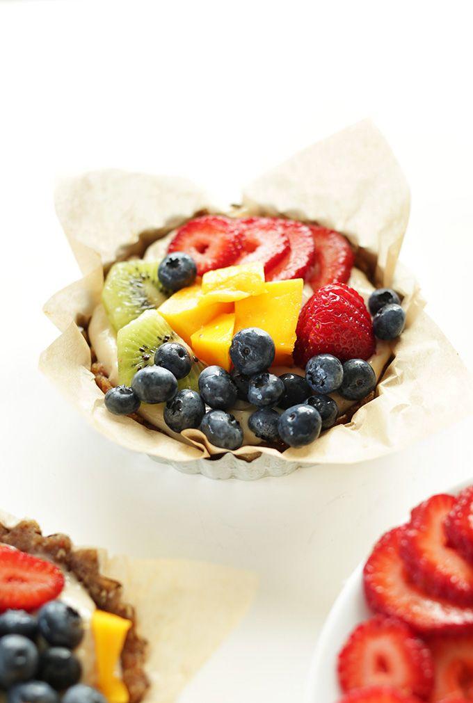 No Bake Lemon Cookie Fruit Tarts
