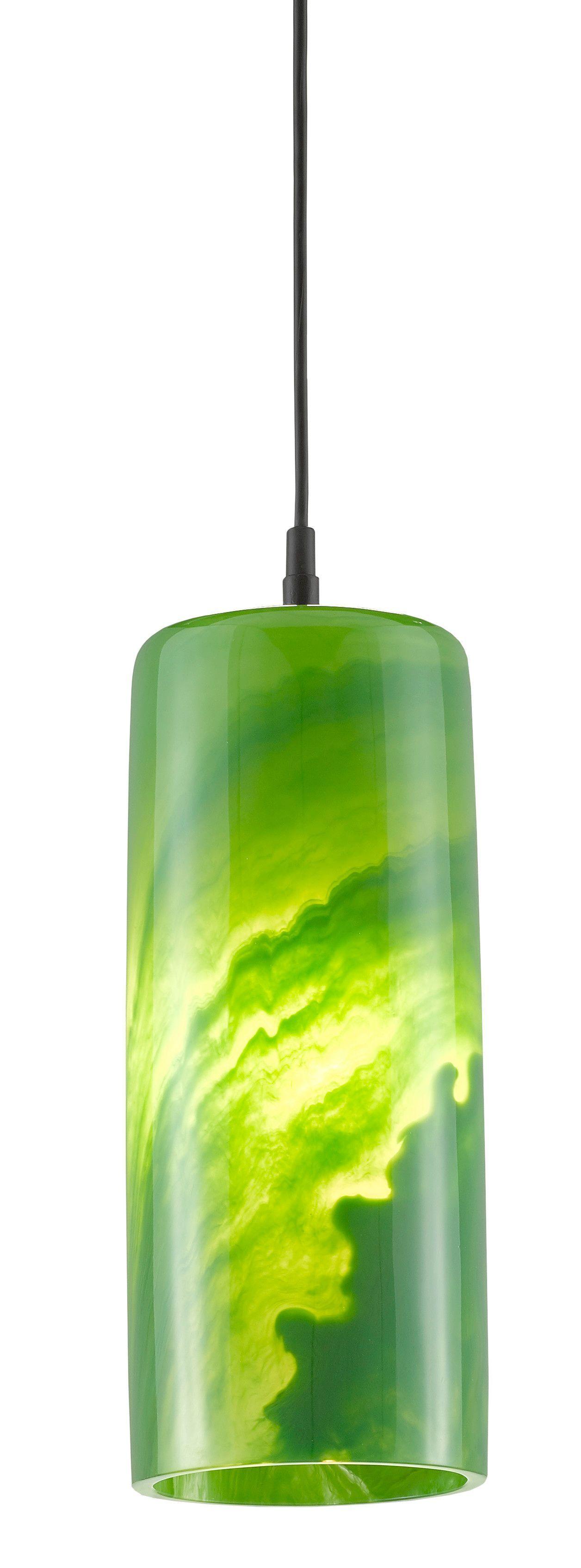 Pieris Pendant - Satin Black/Marbelized Green