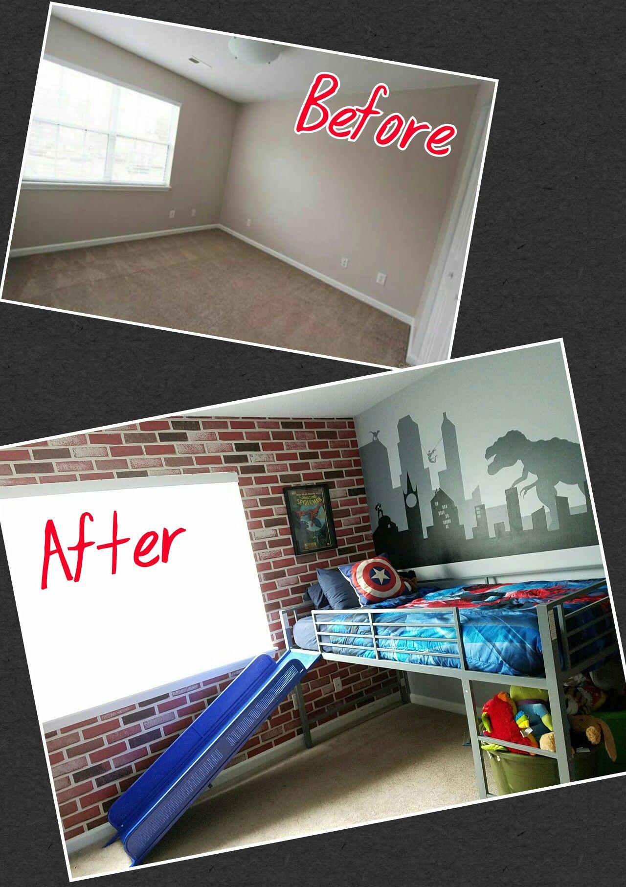 My Son S Superhero Vs Dinosaur Bedroom