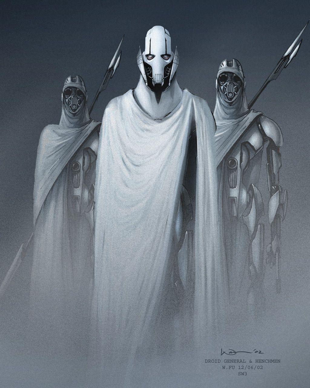 General Grievous Wallpaper: General Grievous And Henchmen (Magnaguard) Concept Art By