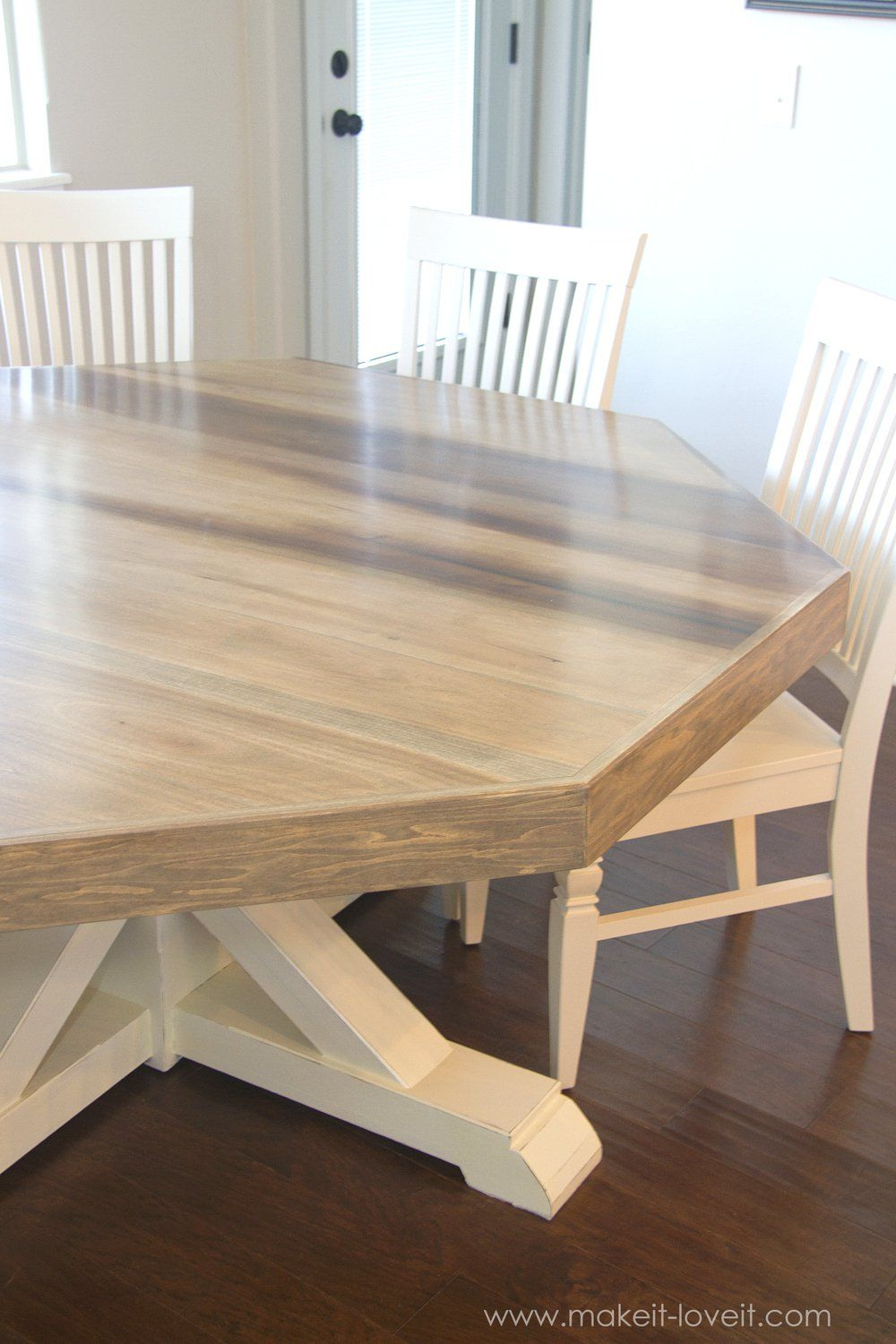 Dining Room Table Round Seats 8 Magnificent Diy Octagon Dining Room Tablewith A Farmhouse Baseseats 8 Inspiration Design