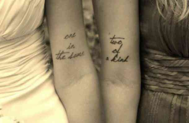 28 SUPER Copy-Worthy Friendship Quote Tattoos For You & Your BFF -   24 matching tattoo quotes