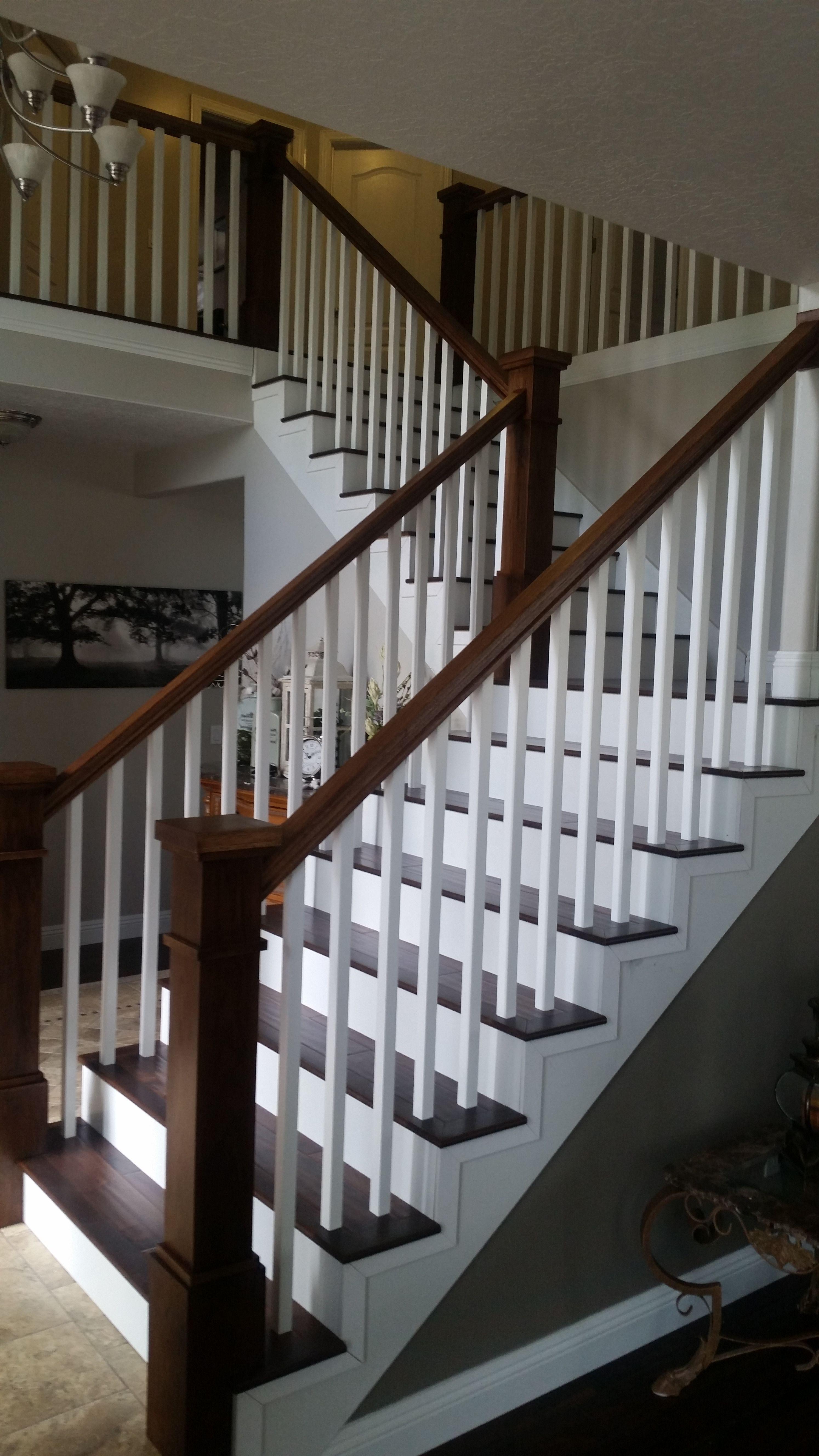 Riverton Utah Stair Railing Remodel.