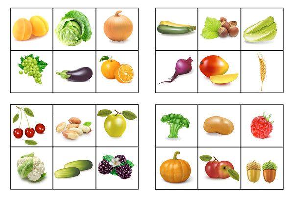 игра про овощи и фрукты, лото сделать своими руками ...
