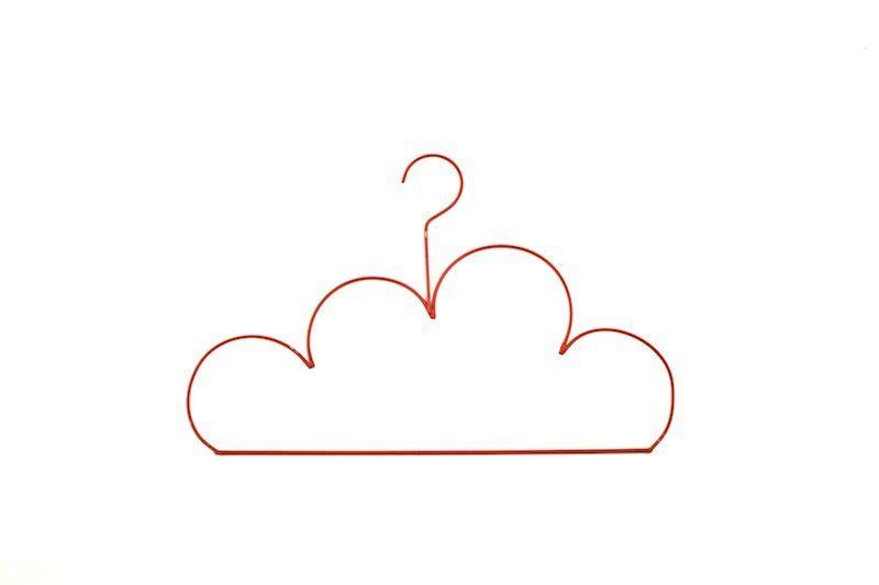 cabide nuvem vermelho