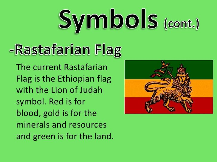 Symbolsbr Contbr Rastafarian Flagbr The Current