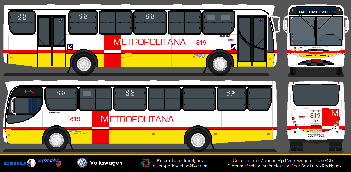 Desenhos Onibusalagoas Metropolitana 819 Onibus Desenho