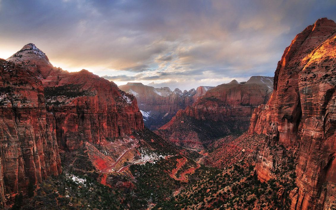 Zion National Park Wallpaper By Hquer On Deviantart Twitter