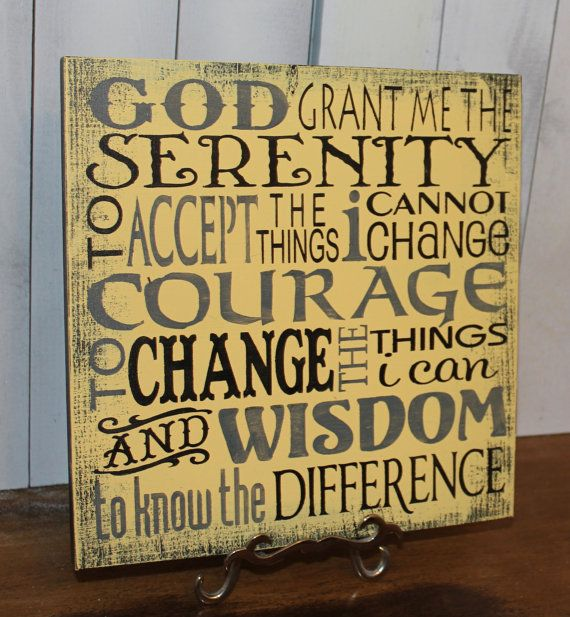 Serenity Prayer Sign/Inspirational/Subway Style/Courage/Wisdom/Earth ...