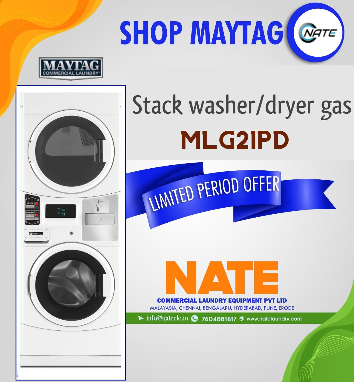 Imported Laundry Stack Washer And Dryer Gas From The