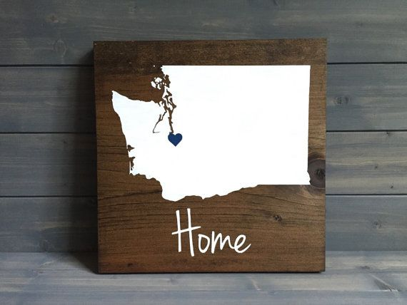 Washington Sign Washington Home Sign State Wall Art Etsy State Wall Art Etsy Wall Art Wood Signs