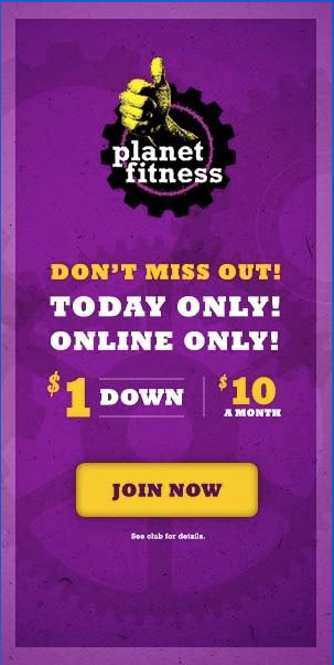 Planet Fitness Banner Web Ads Planet Fitness Workout Web Ads Web Banner