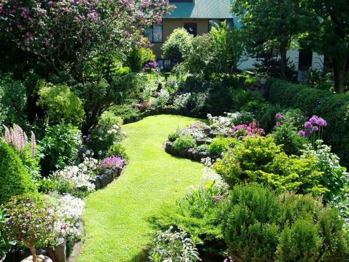 80 pflegeleichter garten ideen zum entlehnen und for Kleinen vorgarten pflegeleicht gestalten
