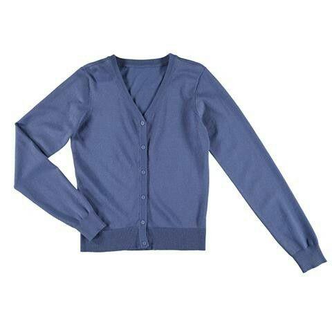 Kmart. Long sleeve check cardigan. Stormy blue.