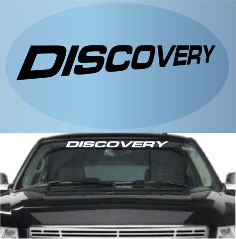 Discovery Decal Custom Windshield Banner Top Choice Decals - Car windshield decals custom
