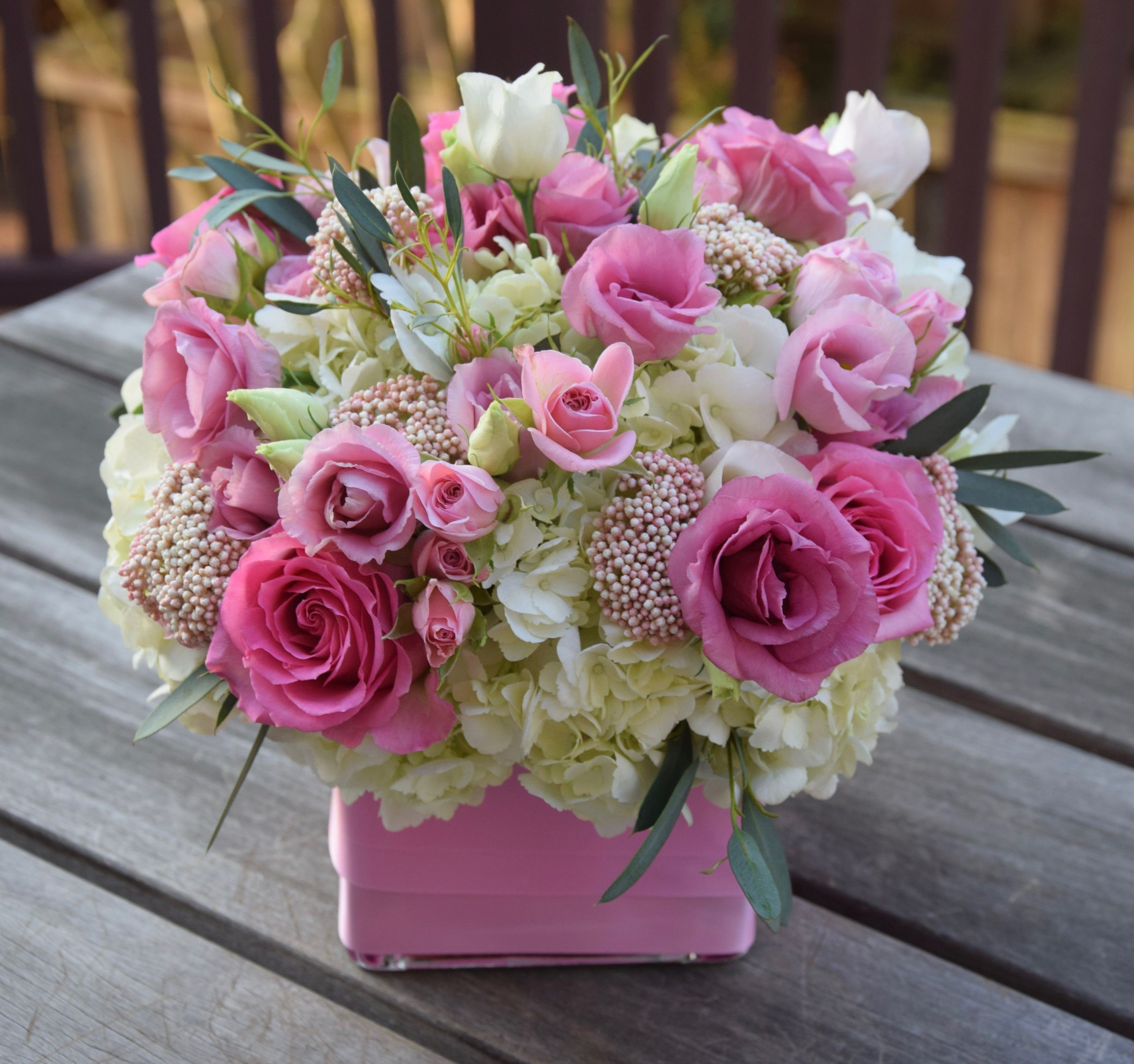Birthday flowers with pinks and whites spray roses roses rice cut flowers izmirmasajfo