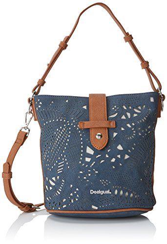 74f5db8d27 Desigual Bols_hades Caracas femme Sacs bandoulière Bleu (Navy) 12.5x23x20.6  cm (B x H x T)   sac à main en 2019   Blue bags, Bag Accessories et Bags