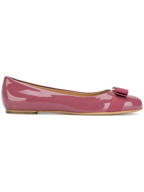 Shop Salvatore Ferragamo Vara ballerina shoes