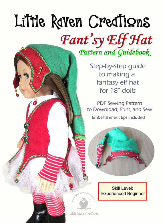 Fant\'sy Elf Hat PDF Pattern for 18\
