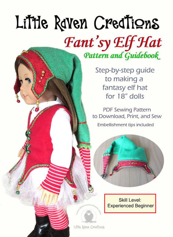 Fant\'sy Elf Hat PDF Pattern for 18 Dolls by LittleRavenCreations ...