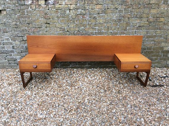1960s Midcentury Teak Bed Head By White And Newton Bedside Retro