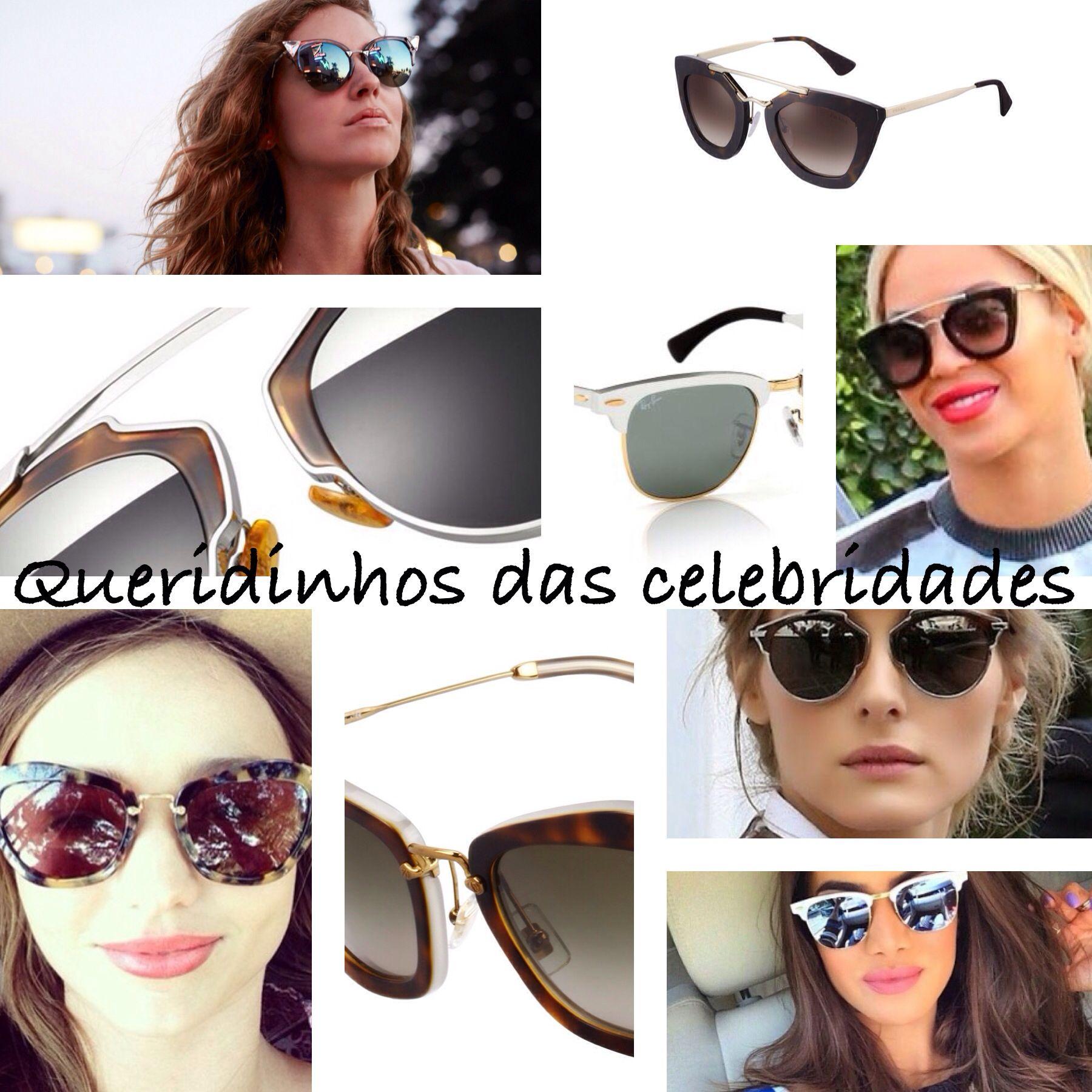 Os queridinhos das celebridades não podem faltar em sua coleção!  oculos   de  sol  famosas  retro  gatinho  prada  miumiu  dior  fendi  oticas   wanny   ... c8bba42555