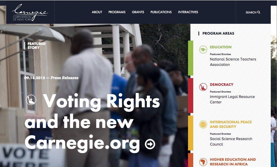 Carnegie Corporation of New York website