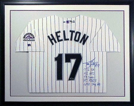 ead96798f Custom framed Todd Helton  Colorado  Rockies jersey!  Baseball  Framing