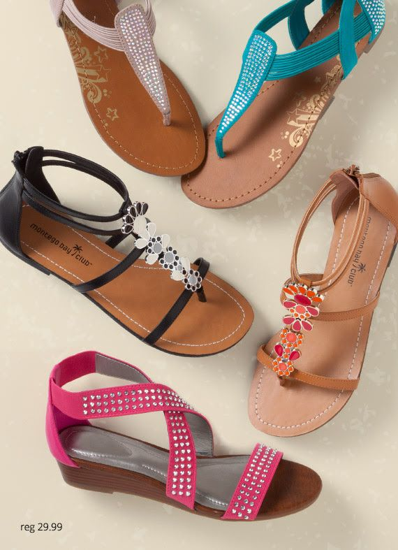 Cute gladiator sandals from Payless