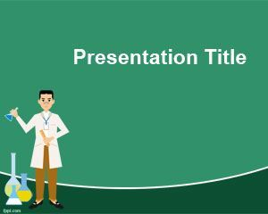 Free Chemistry Powerpoint Template With Physician And Green