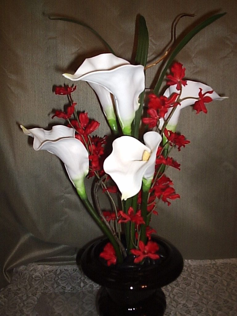 Custom designed flowers 2 orchid arrangements floral Christmas orchid arrangements