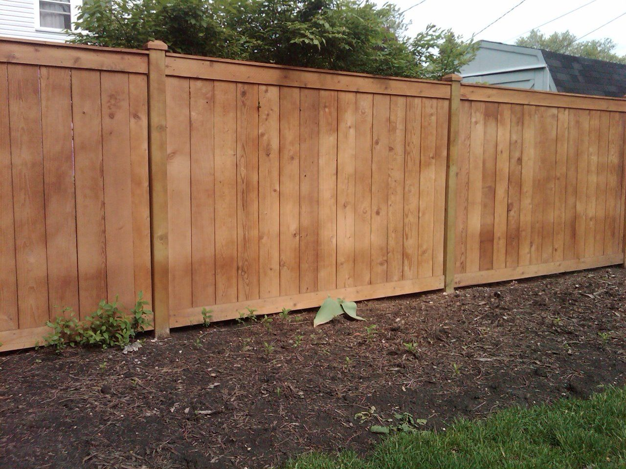 6 8242 Traditional 8211 Outside View Cedar Fence Wood Fence
