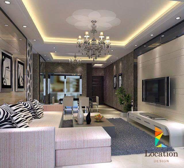 غرف معيشة 2016 أحدث ديكورات جبسيوم بورد بلمسة عصرية و حديثة لوكيشن ديزين نت ديكور تصميم اثاث House Styles House Home