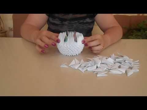 3D origami small swan tutorial ( model 1) - YouTube | 360x480