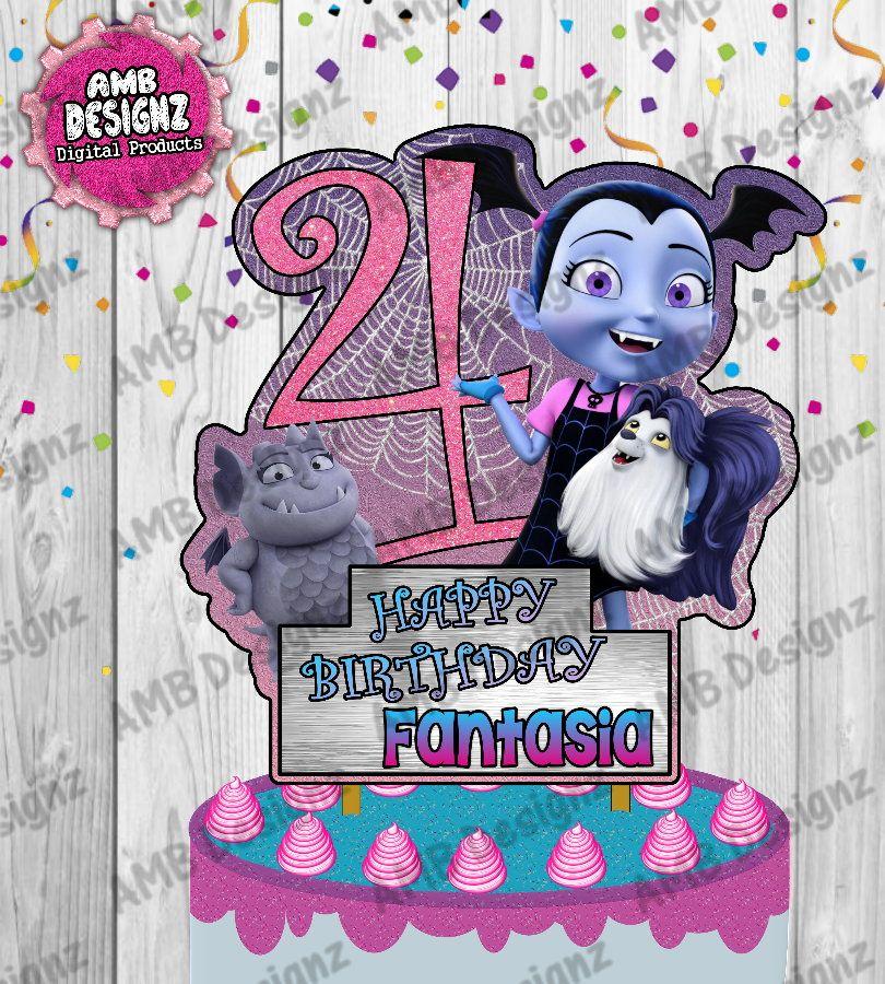 Vampirina Cake Topper Custom Cake Topper Personalized Cake Topper