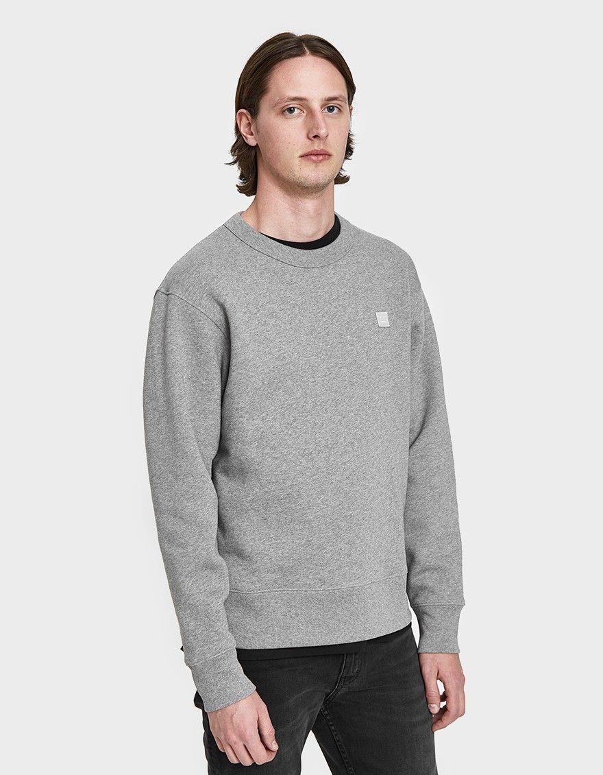 de669527 Acne Studios / Fairview Face Sweatshirt in Light Grey Melange ...