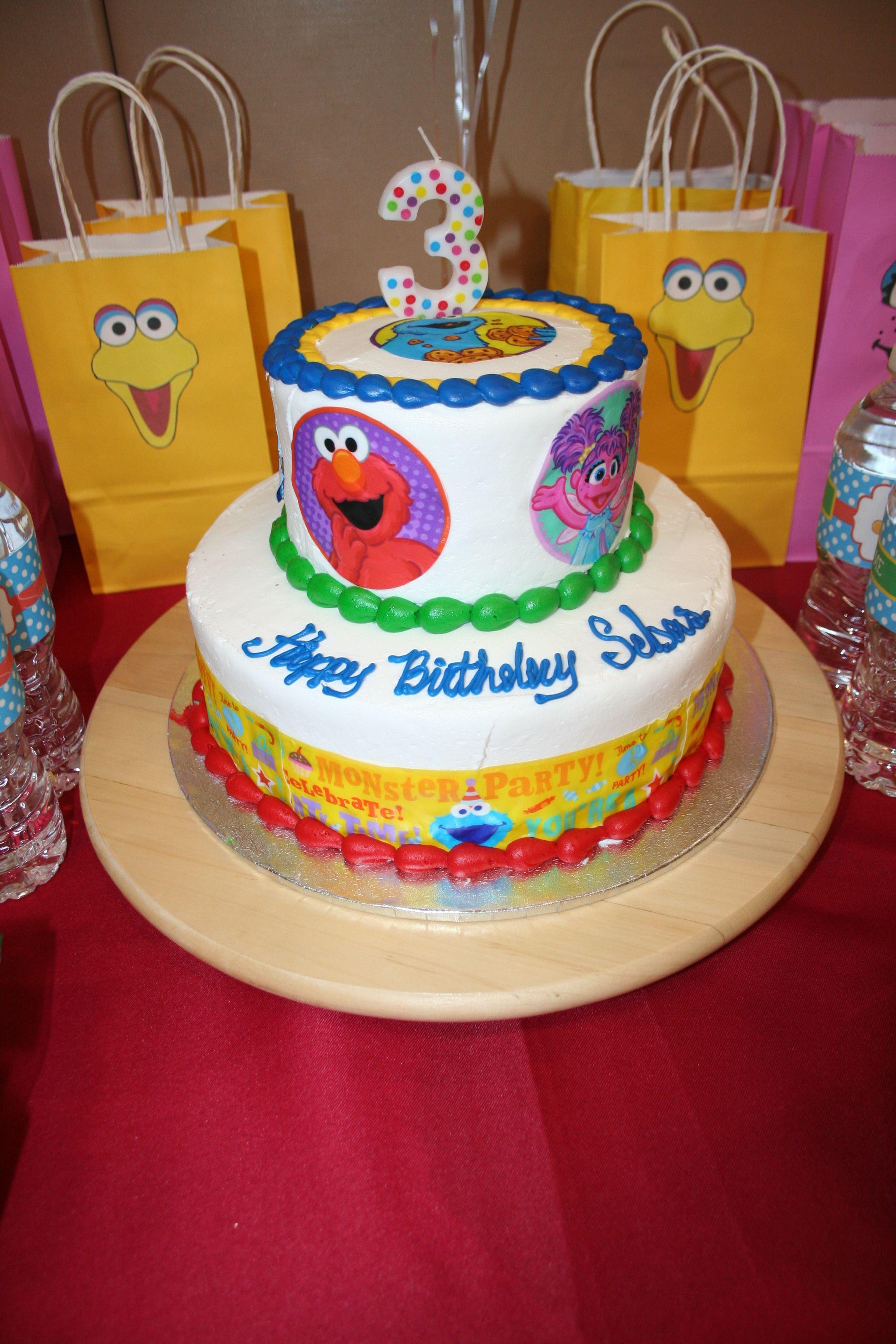 Enjoyable Sesame Street Cake It Was From Walmart Sesame Street Cake Personalised Birthday Cards Veneteletsinfo
