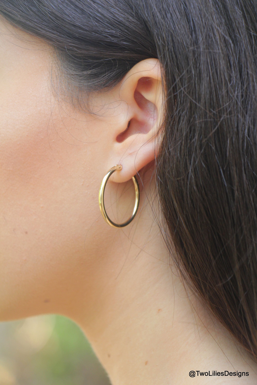 New Fashion Womens/' Simple Earing Jewelry Heart Design Hoop Earring Girl Gift SP