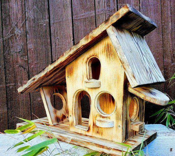 vogelfutterhaus massiv natur ländlich rustikal