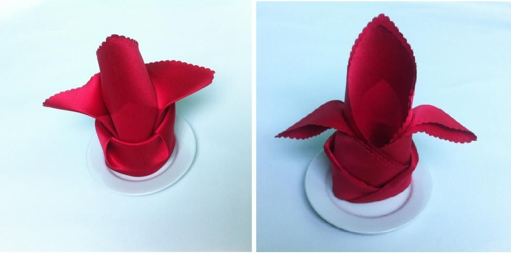 DIY Wedding Crafts : DIY Fold Dinner Napkins
