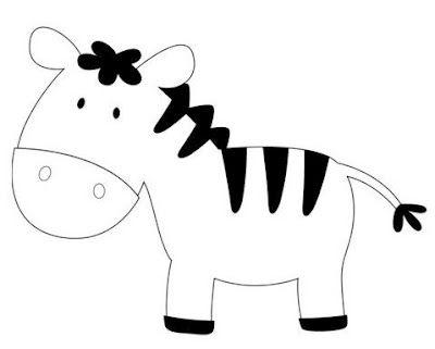 Molde Zebra Com Imagens Padroes Em Feltro Animais De Feltro