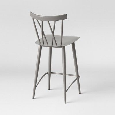 Super Set Of 2 Becket Metal X Back Counter Stool Gray Project 62 Unemploymentrelief Wooden Chair Designs For Living Room Unemploymentrelieforg