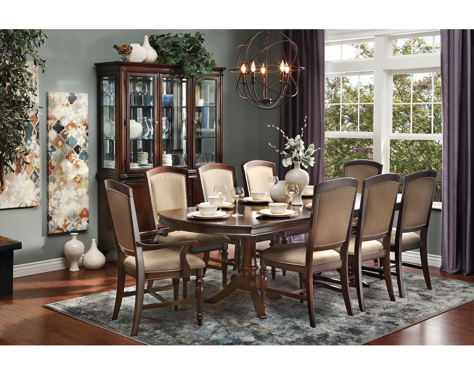 Double Pedestal Base For A Clic Look Rowland Dining Set Offers Timeless Sophistication Your Room Furniturerow Diningroomdecor
