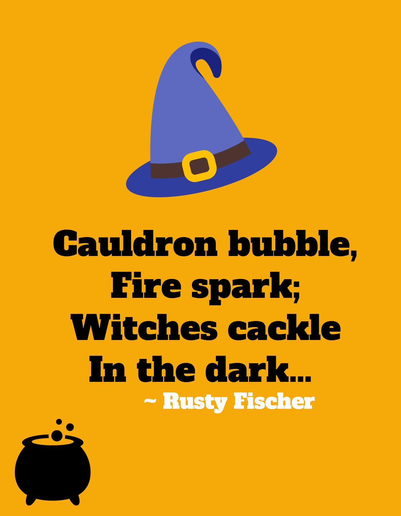 cauldron bubble a halloween poem | halloweeny screamy! halloween