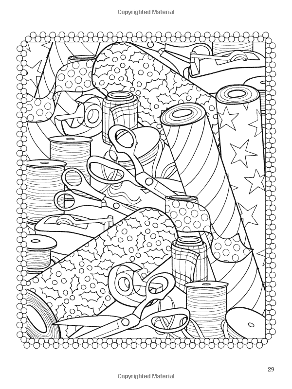 amazoncom christmasscapes dover holiday coloring book 9780486471952 jessica - Holiday Coloring Book