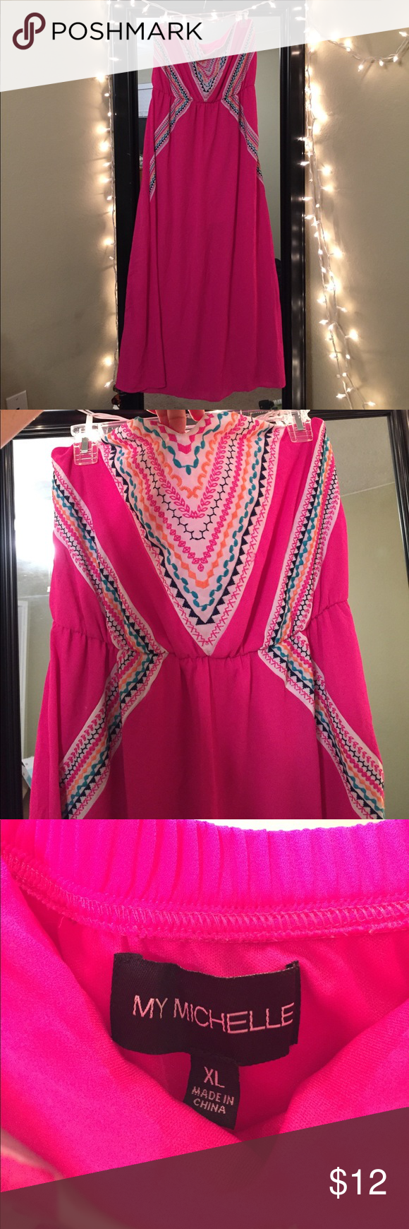 Hot pink maxi dress  Hot pink maxi dress This bright dress is the perfect item to have