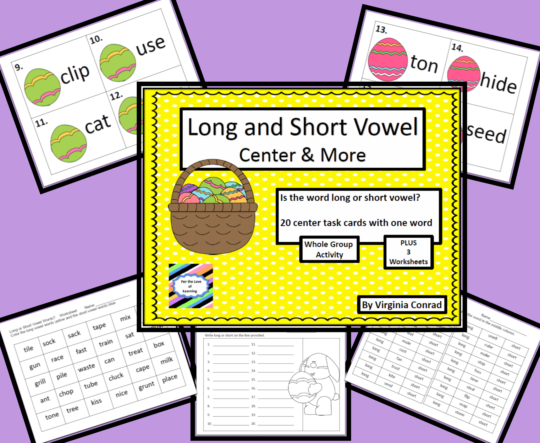 Long And Short Vowel Words Activity Worksheets Task