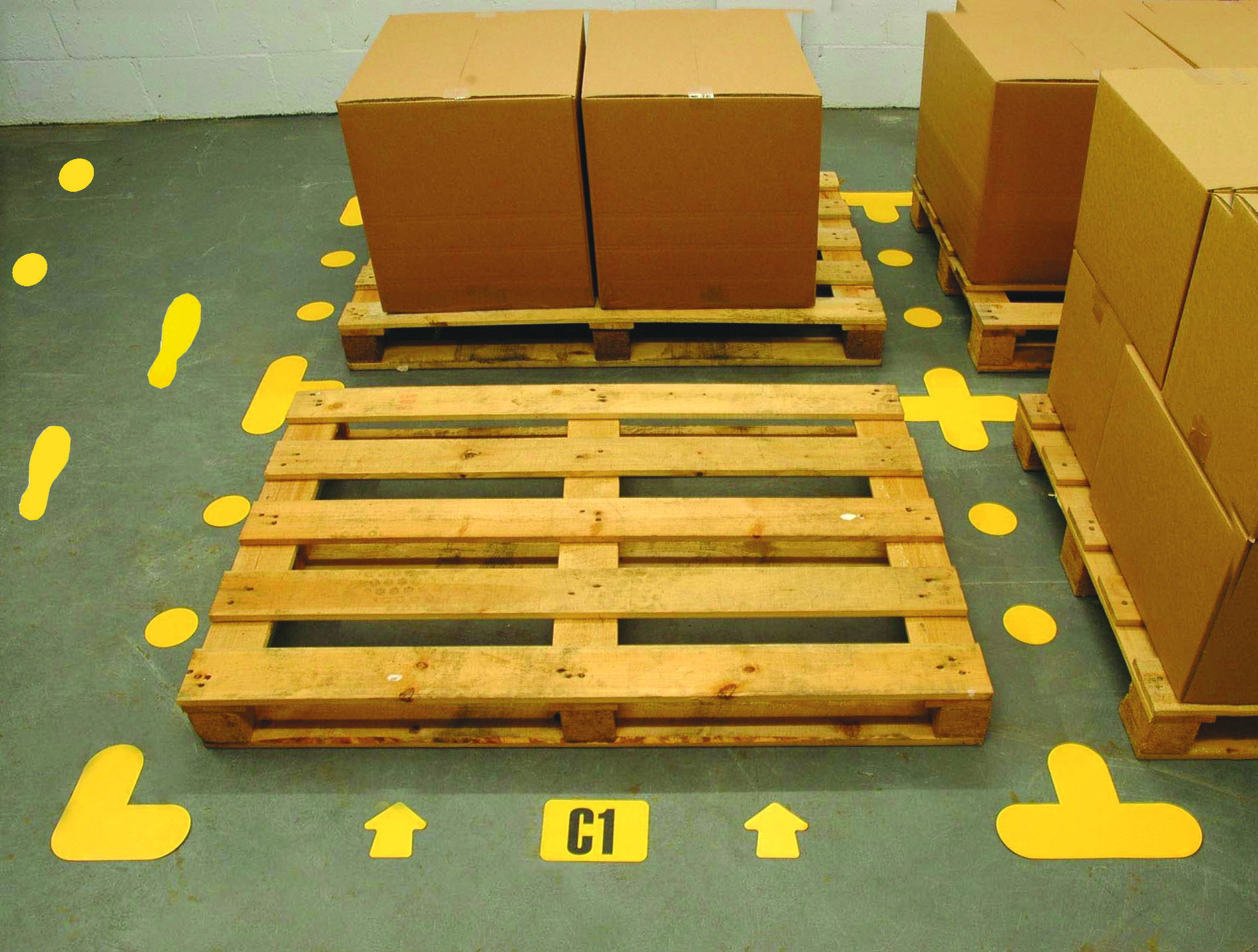 Floor Markings in use Warehouse floor, Warehouse