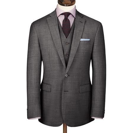 Grey Apsley sharkskin slim fit business suit