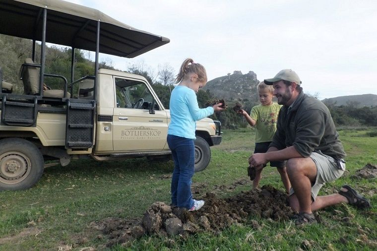 #Childfriendly activities at #Botlierskop Game Reserve. Kids having fun with their ranger.
